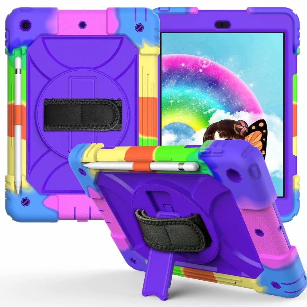 Strap For Hand Generation iPad 360 Pencil Case iPad Rotating Holder Cover 7th Stand For