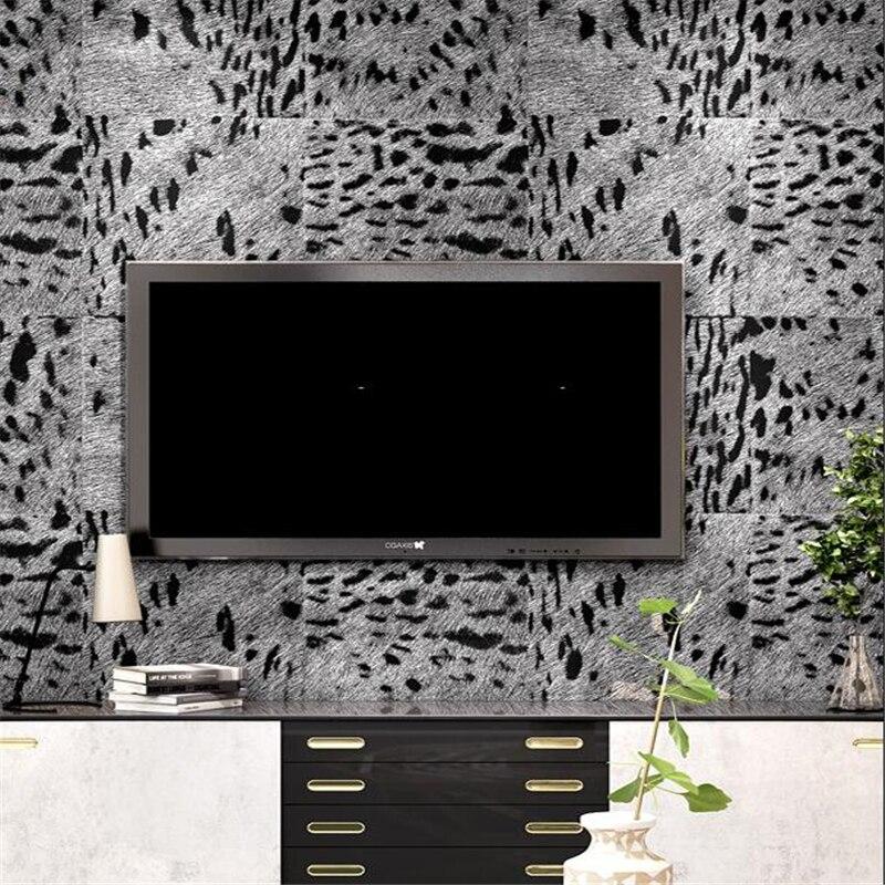 Wellyu léopard papier peint TV fond mur salon chambre KTV haut de gamme mode personnalité papier peint papel de parede