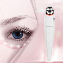 Mini Electric Massage Vibration Pen Face Care Massager Eyes Wrinkle Removing Pen Massage Instrument Random Color electric vibration eye face massager anti ageing wrinkle removing pen ion device
