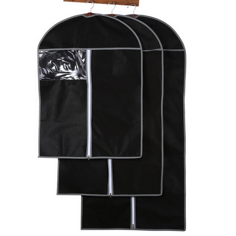 Waterproof Clothes Storage Non-woven Dust-Proof Clothes Storage Dress Suit Cover Dustproof Bags Protector Clothing Cover Pouch