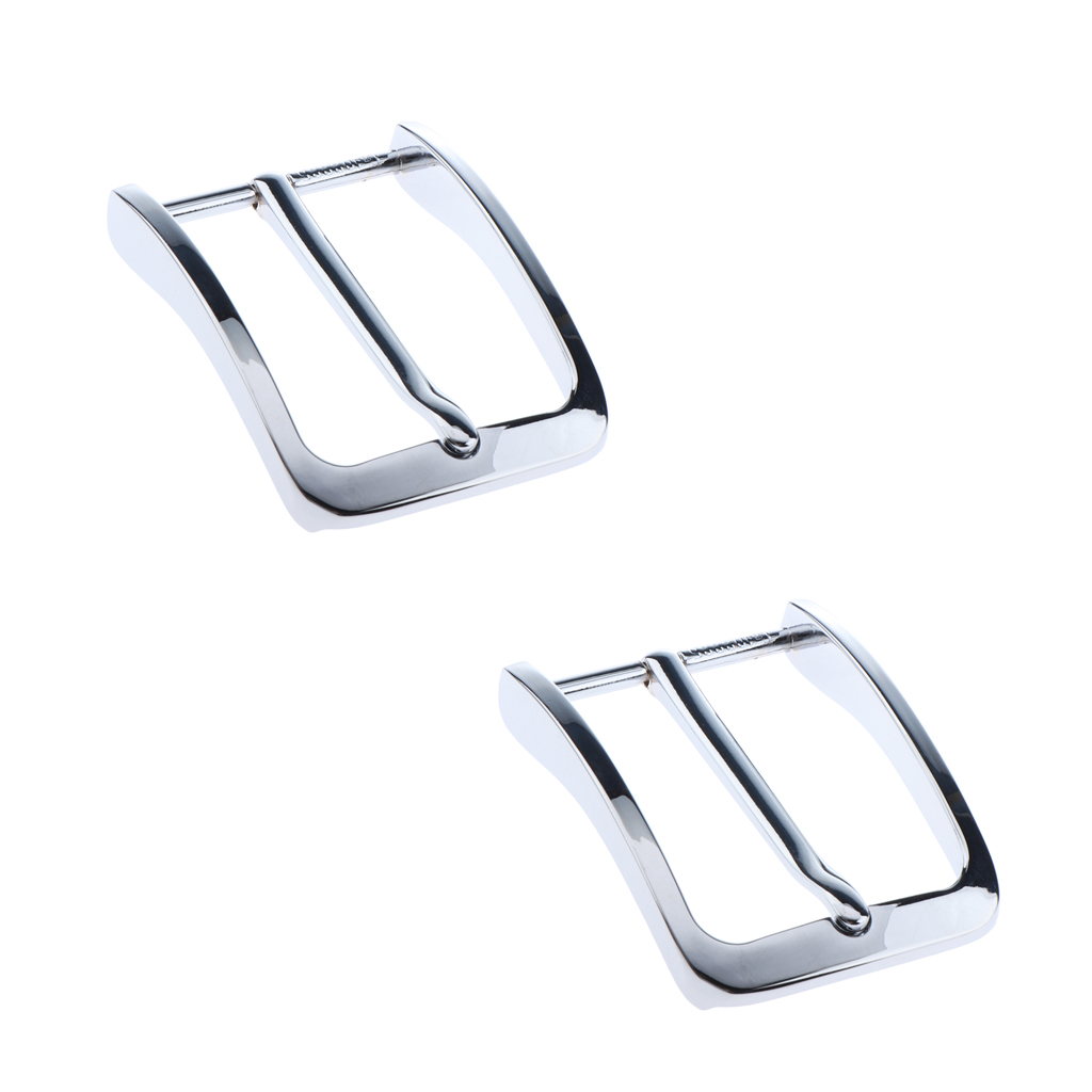 2 Pack Alloy Rectangular Belt Buckle Metal Pin Buckle Replacement Parts