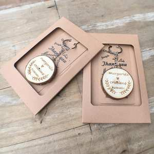 Key-Ring Favours Wedding-Gifts Custom Keychain Wooden Thank-You Cards