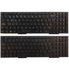 Laptop Keyboard Backlit GL553V Red/white ASUS Spanish for Gl553/Gl553v/Gl553vw/..