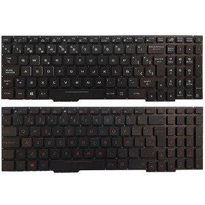 Spanish Laptop Keyboard For ASUS GL553 GL553V GL553VW ZX553VD ZX53V ZX73 FX553VD FX53VD FX753VD FZ53V with backlit red/white