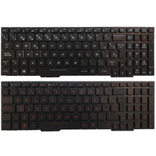 Spanish Laptop Keyboard For ASUS GL753 GL753V GL753VE GL753VD with backlit red/white