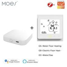 ZigBee Smart Thermostat Temperatur Controller Hub Erforderlich Wasser/Elektrische boden Heizung Wasser/Gas Kessel mit Alexa Google Hause