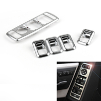 Areyourshop Window Power Switch Cover For BENZ W204 W212 W207 W166 W246 X204 5PCS Chrome ABS plastic New Arrival