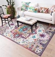 Bohemia Turkey style Multicolor carpet flowers Bedroom plush rug living room mat non slip floor mat custom made door mat