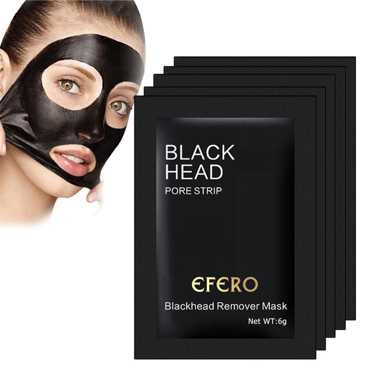 2/6/8PCS Blackhead Mask Peeling Black Mask For Face Nose Oil Control Acne Spot Black Head Remover Pore Strip Blackhead Mud Masks