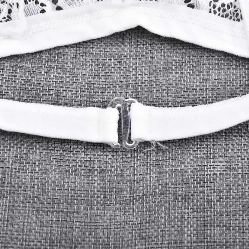 חם בנות תחרה חזייה סקסי רקמה פרחוני לראות דרך חזיית נשים תחתונים לבן שחור Bralette אלחוטי חזייה חלקה wokeayer