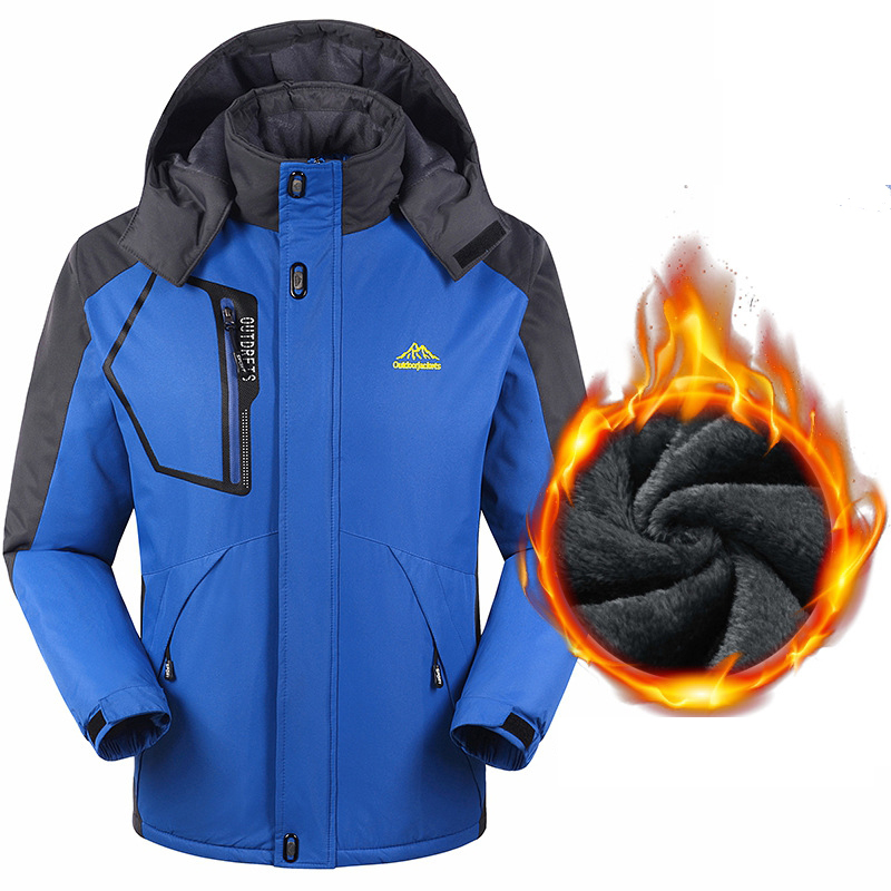 Ski Jacket Men Outdoor Windproof Waterproof Warm Fleece Jackets Camping Trekking Hiking Skiing Snowboard Jackets Plus Size L-8XL