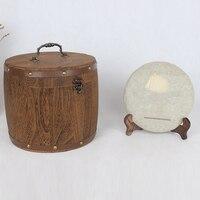 차 잎 밀가루 커피 콩 pak55에 대 한 미니 나무 배럴 용기 보관 상자