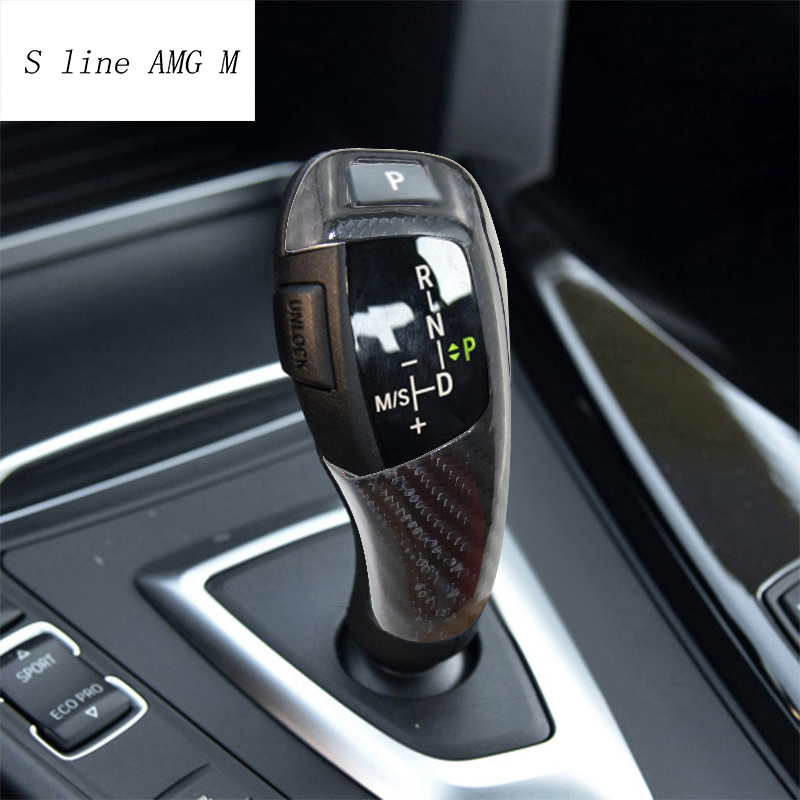 Car Carbon Fiber Central Control Gear Shift Panel Covers <font><b>Stickers</b></font> For BMW 1 3 5 Series F20 F30 <font><b>f10</b></font> f32 F25 X5 F15 X6 F16 LHD RHD image