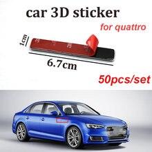 50 шт для quattro a5 a6 a7 a8 q1 q3 q5 q7 tt наклейка с эмблемой