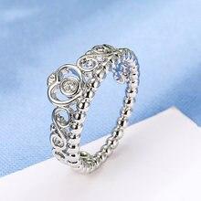 Модное кольцо в форме сердца с кристаллами циркония элегантная