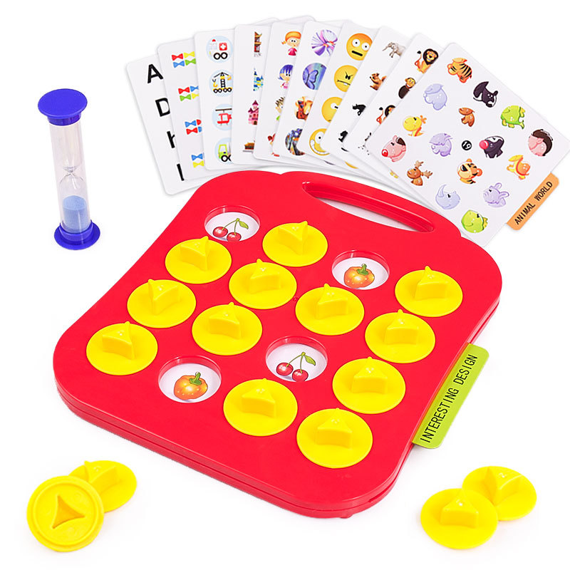 Children Memory Training Matching Pair Game Early Education Interactive Toy Parent Child Link Up Chess Puzzle Toys