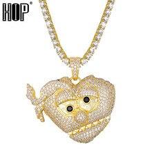 Bling CZ Chef Keef THOT Breaker Halskette Anhänger Für Männliche Rapper Hip Hop Iced Out Schmuck Bijoux