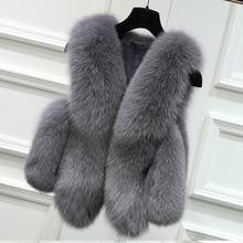 Faux Fur Coat Autumn Winter Women 2019 Fashion Casual Warm Slim Sleeveless Faux Fox Fur Vest Winter Jacket Women casaco feminino цена