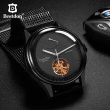 цена Bestdon Mens Watches Top Brand Luxury Automatic Mechanical Tourbillon Watch Waterproof Stainless Steel Clocks Relogio Masculino онлайн в 2017 году