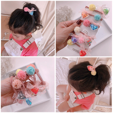 Anti allergy 1pair elastic and beautiful hair ornaments arrival in 2020 unique lovely quicksand love sand ball hea