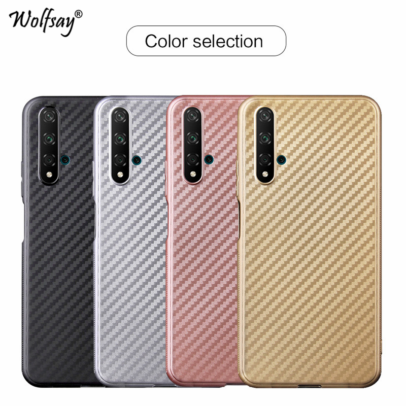 For Huawei Nova 5T Case Luxury Silicone Soft TPU Slim Phone Bumper Protective Cover Fundas