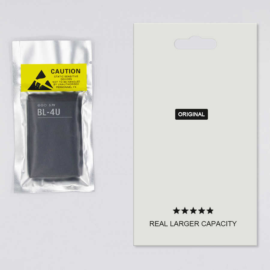 2019 Pinzheng 100% Asli BL-4U Baterai Ponsel untuk Nokia BL 4U BL-4U BL4U E66 C5-03 5530 5730 Pengganti Nokia BL 4U Baterai