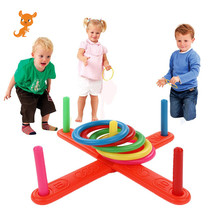 toy Funny Kids Outdoor Sport Toys Hoop Ring Toss Plastic Ring Toss Garden Game Pool Toy Outdoor Fun Set  kid games brybelly holdings sout 103 touchdown toss cornhole set