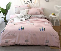 Arctic velvet cotton four piece cotton bedding summer bedding dormitory bedding sheet