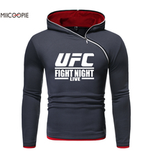 Miicoopie 2019 Mens Hoodie Famous Sport Print Sweatshirt Men Logo Print Five Colors Diagonal Zipper Design Hoodie цена в Москве и Питере