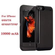 Лидер продаж, 10000 мА/ч, Мощность банка чехол для iPhone 6 6s 7 plus чехол Батарея Зарядное устройство чехол для iPhone 6 6s 7 8 плюс Мощность bank зарядное устройство чехол