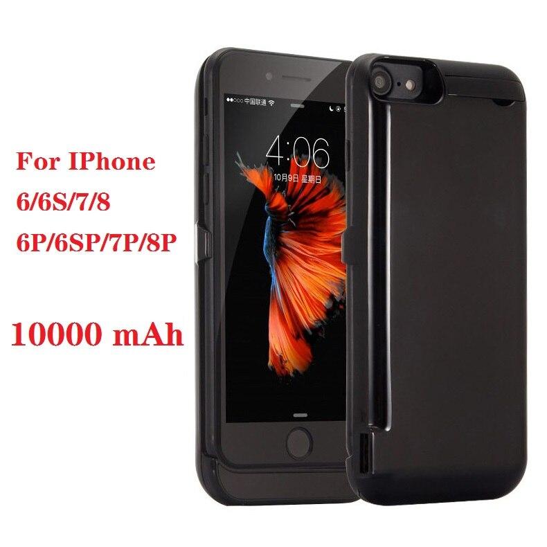 Heißer 10000mah Power bank fall Für iPhone 6 6s 7 plus fall Batterie Ladegerät Fall Für iPhone 6 6s 7 8 Plus Power Bank Lade Fall
