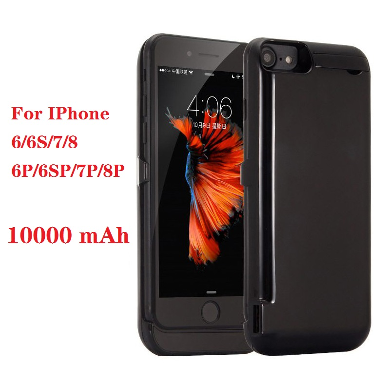 Hot 10000mah Power Bank Case For IPhone 6 6s 7 Plus Case Battery Charger Case For IPhone 6 6s 7 8 Plus Power Bank Charging Case
