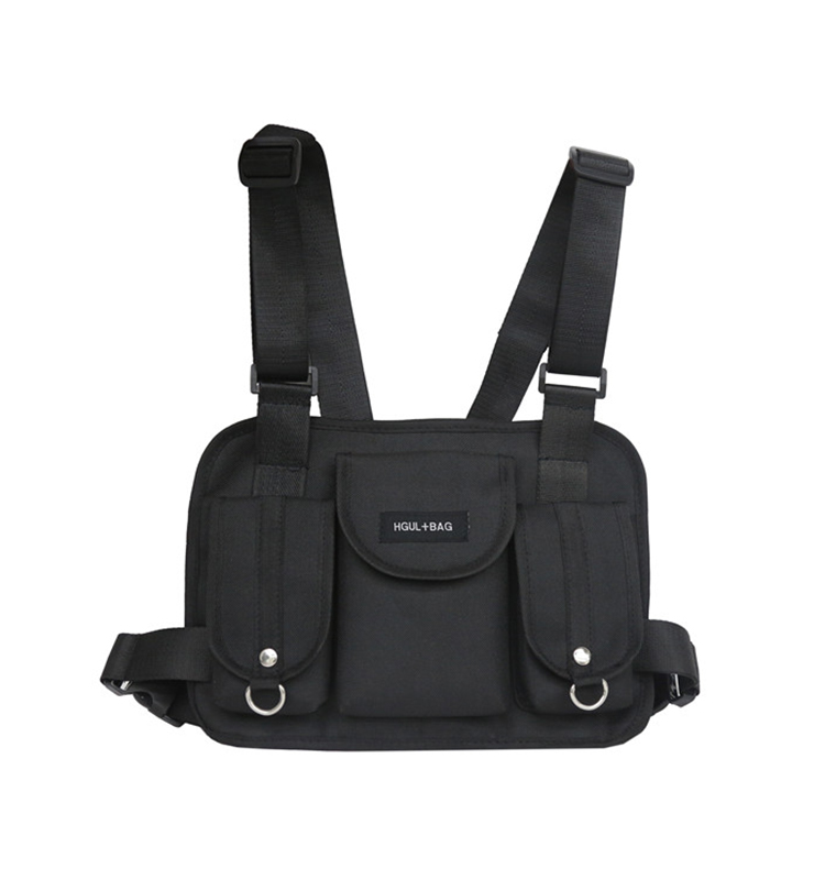H2c7ee210e4934ec6bfeb80a57fd19124O - Fashion Chest Rig Bag Hip Hop Streetwear Functional Tactical Chest Bags Cross Shoulder Bag Kanye West backpack waist bag black
