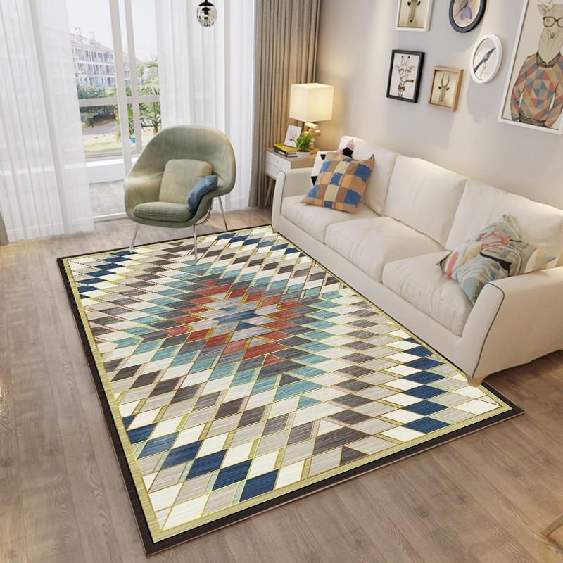 Image 3 - Nordic Carpet Rug For Living Room Modern Printing 3d Geometric Floor Rug Non slip Antifouling Carpet For Parlor Factory Supply-in Carpet from Home & Garden