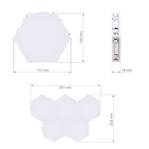 Image 2 - קוונטי DIY מנורת מגע רגיש חיישן מודולרי משושה אור LED מגנטי אורות קיר מנורת חידוש Creative קישוט