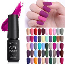 LILYCUTE Matte UV Gel Nagellak Matte Top Jas Kleur UV Gel Nail Art Varnish Hybrid Soak Off Gel Lak manicur Gel Polish(China)