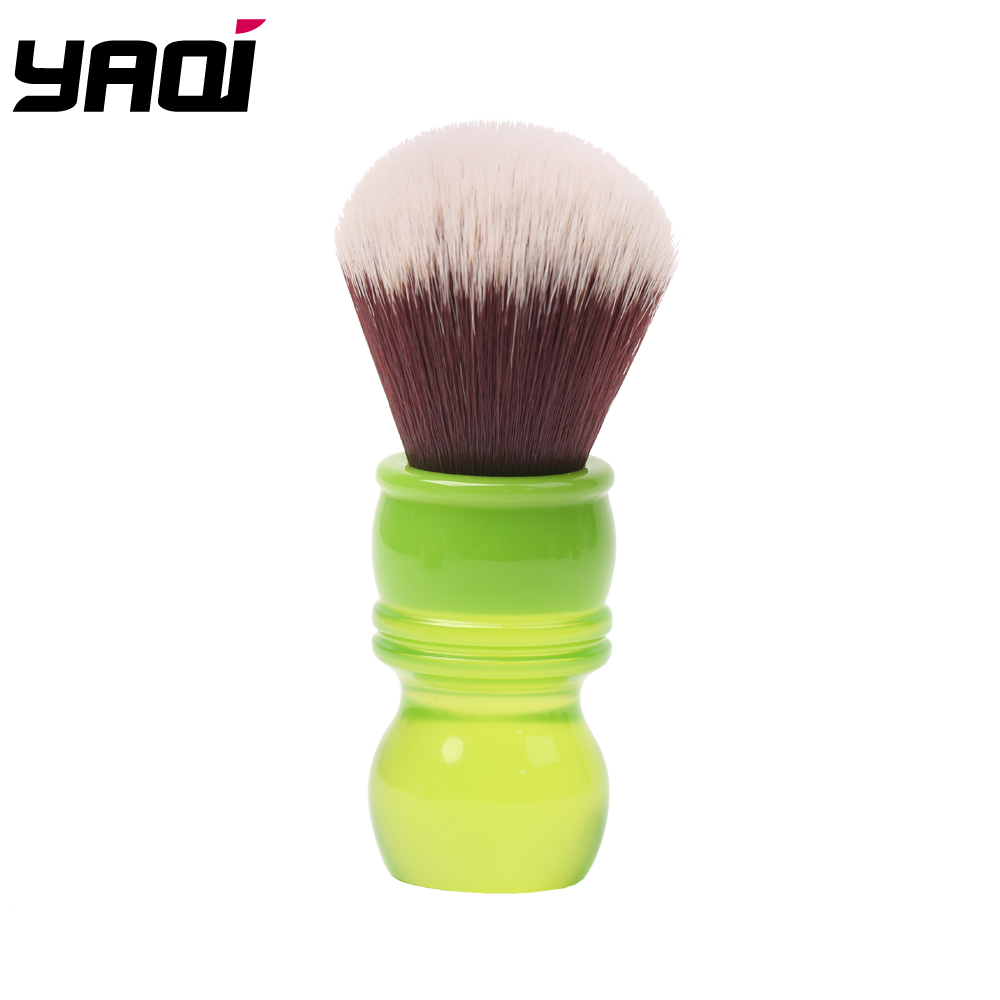 Yaqi 24mm Green Handle Mink Synthetic Hair Knot Wet Shaving Brush