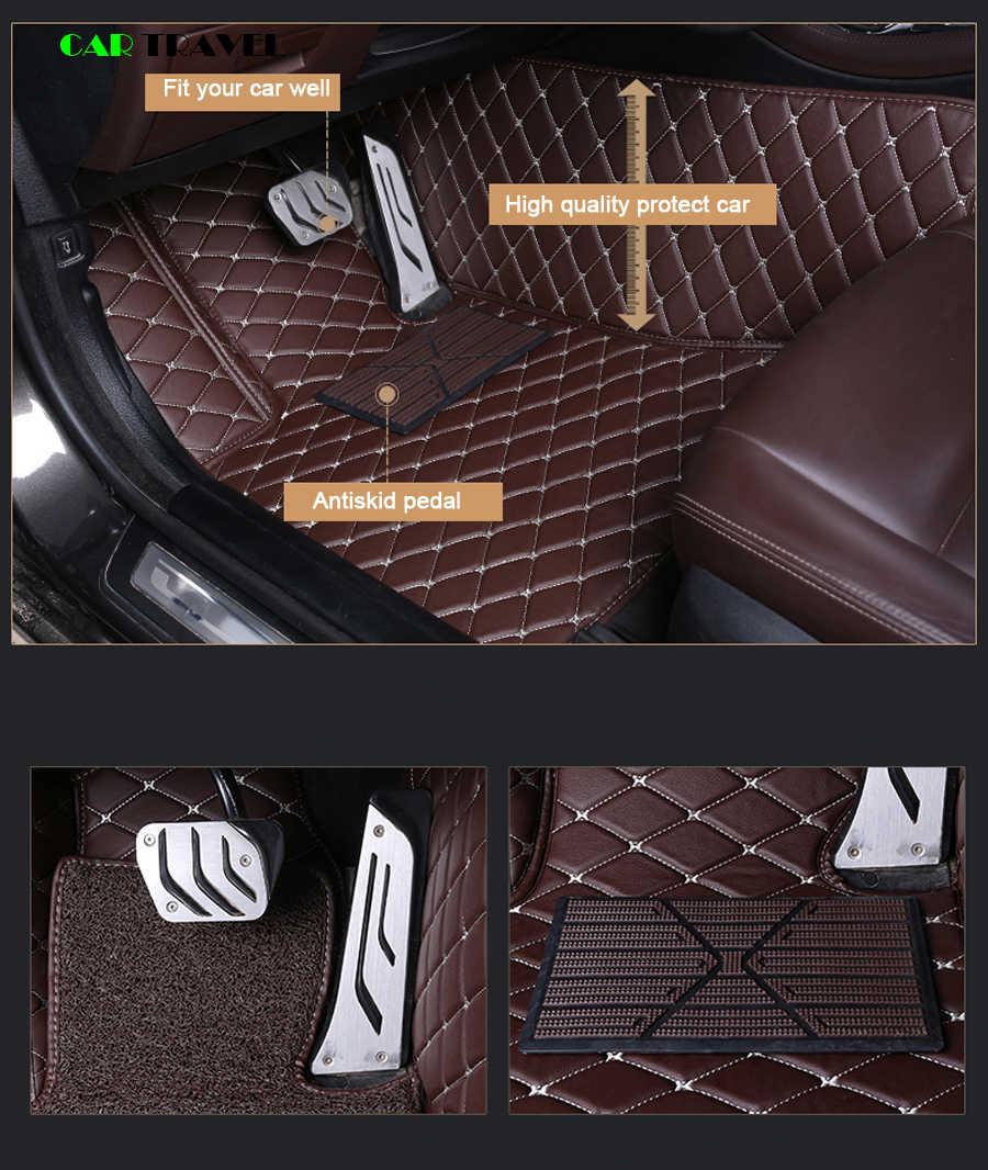 Deri araba paspaslar Jaguar XF için XE XJL XJ6 XJ6L F-PACE F-TYPE marka firma yumuşak araba aksesuarları araba styling özel