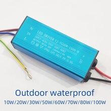 Led driver fonte de alimentação lastro AC85V-265V ao ar livre lâmpada rua holofote spotlight transformador à prova d20 água 20w 30 50 70 100w