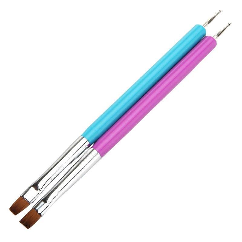 1pcs Nail Art Manicure Gereedschap Lat Punt Boor Dot UV Gel Nagellak Schilderen Bloem Pen Nagels Borstel Tekening brush Set Kit Tools