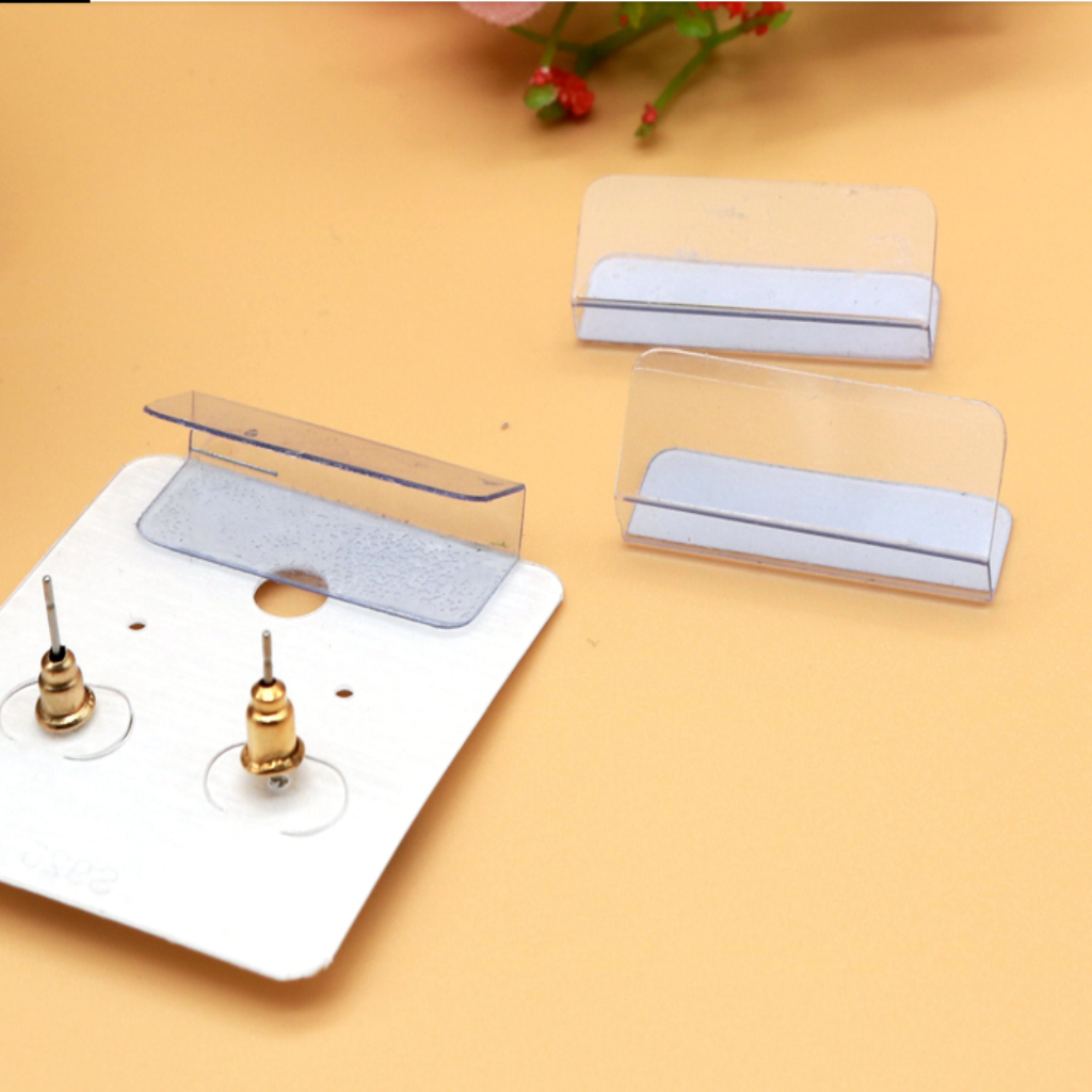 100 Pcs Earring Cards Holder Earring Ear Studs Jewelry Display Cards Adapter, Self-Adhesive, 1x1.2 Inch