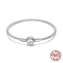Fit original bracelet perles pendentif faisant femme authentique 100% 925 en argent sterling bracelet à breloques serpent bracelet bijoux