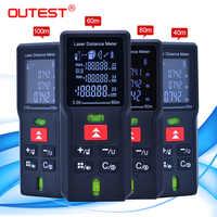 Mètre de distance laser le plus élevé trena ruban à mesurer laser outil de testeur de télémètre Laser Mini télémètre laser numérique 40M 60M 80MM 100M
