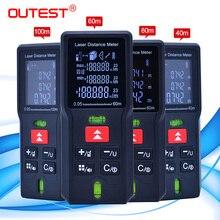 Medidor de distância a laser, trena a laser, fita de medição, diastímetro, ferramenta de medição, mini telêmetro digital a laser 40m 60m 80mm 100m
