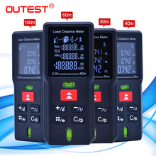 OUTEST lazer mesafe ölçer trena lazer mezura Diastimeter test cihazı Mini dijital lazer telemetre 40M 60M 80MM 100M