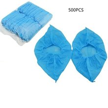 Non-woven Fabric Disposable Shoes Covers with Elastic Band Breathable Dust-proof Thickened Anti-slip Anti-static Shoe Covers