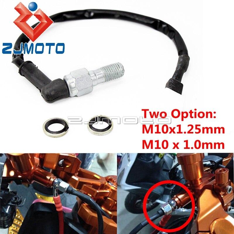 M10x1.25mm & M10 x 1.0mm Banjo Bolt Motorcycle Hydraulic Brake Switch Cable Universal For Honda Kawasaki Suzuki Kawasaki