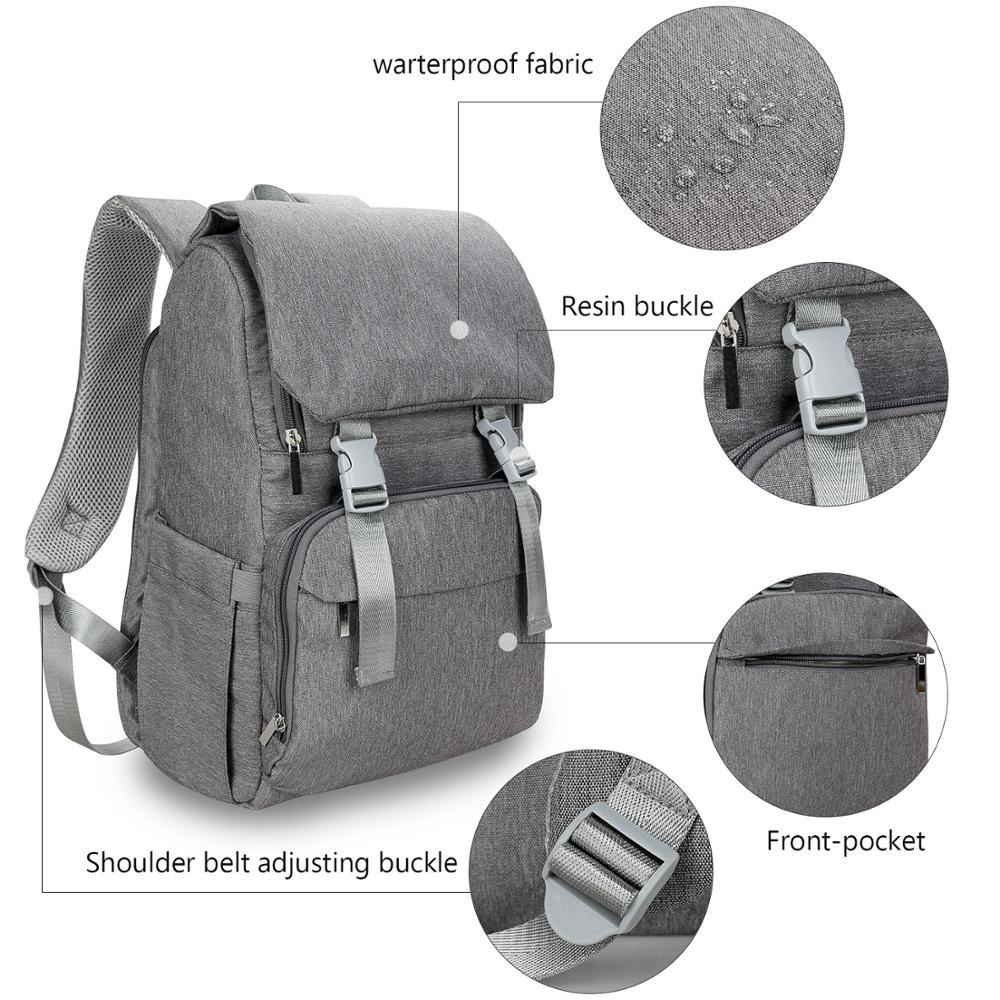 Diaper Bag Waterproof Travel Backpack Maternity Bag for Mom Dad Black