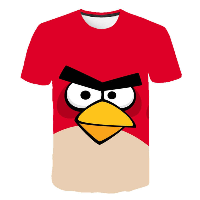 2019 summer New Arrival Movie 3D Printed The Birds 2 kids T-Shirt Short Sleeve Angry Boy and girl t-shirt 100-160