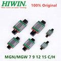 Оригинальный Hiwin мини линейная направляющая линейный блок перевозки MGN9C MGN12C MGN15C MGN9H MGN12H MGN15H MGW9C MGW12C MGW15C MGW9H MGW12H MGW15H